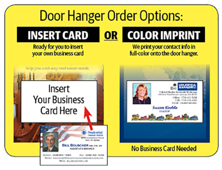 Real Estate Door Hangers With Business Card