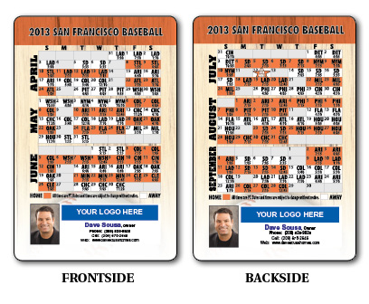Sports Schedules: Baseball Schedules <br>Laminated Wallet Card