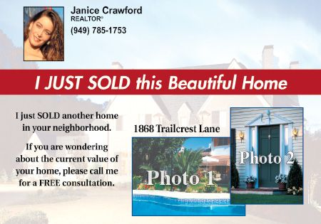 Custom Postcards: Just Sold Banner
