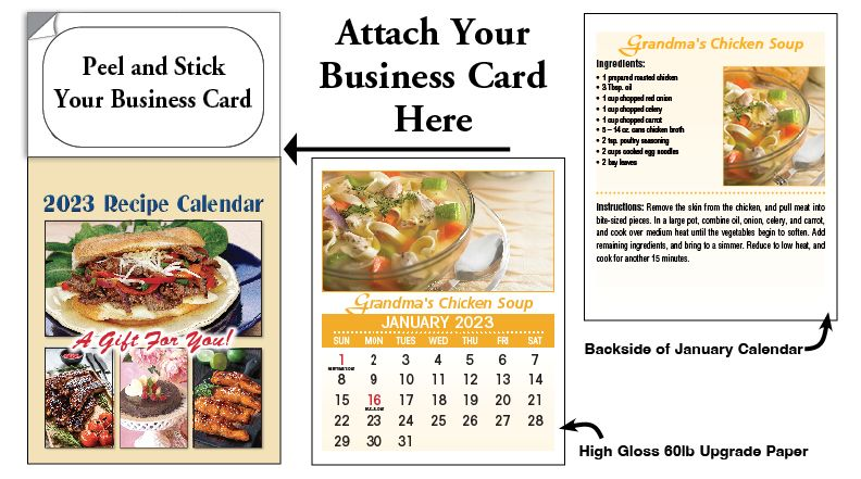 Recipe Tear-off Magnetic Calendarss for Real Estate Agents