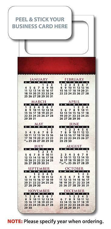 Uv card magnetic calendars red band peel n stick business card calendars for real estate agents reheart Choice Image