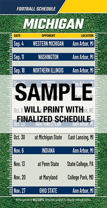 This is a picture of Simplicity Michigan Football Schedule Printable