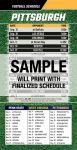 Magnetic Business Card Real Estate Football Schedules  |Realtor Tools