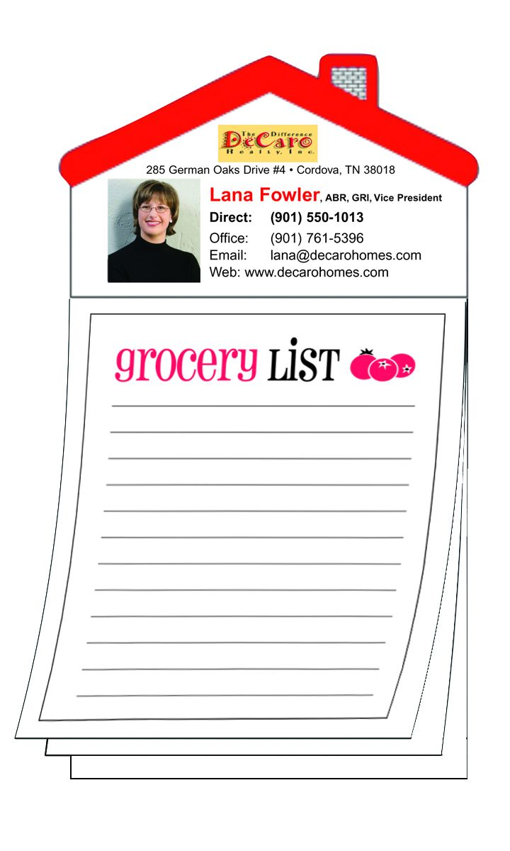 Magnetic Magna-Pads: Grocery List Magna-Pad Magnetic House Shape ...
