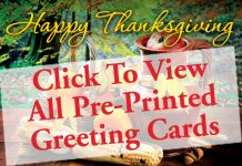 Monthly Prospecting: Thanksgiving-Preprinted Greeting Cards