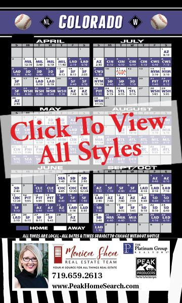 Sports Schedules: Baseball Schedules <br>Full Magnetic Back