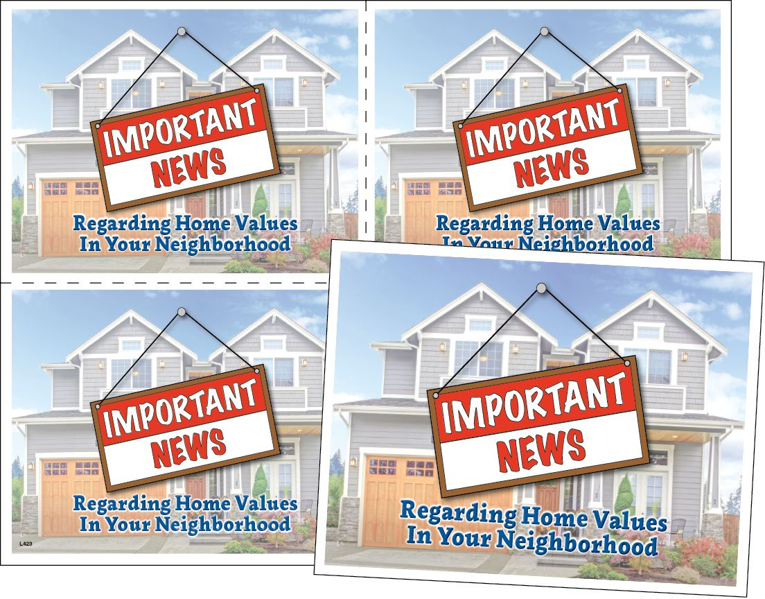 ReaMark Real Estate Postcards - Full Color 4-Up Laser Postcards