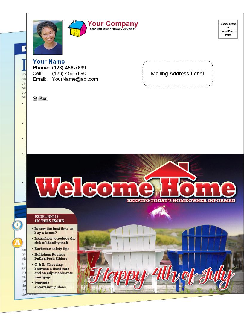 Page Real Estate Newsletters HalfFold Real Estate Newsletter